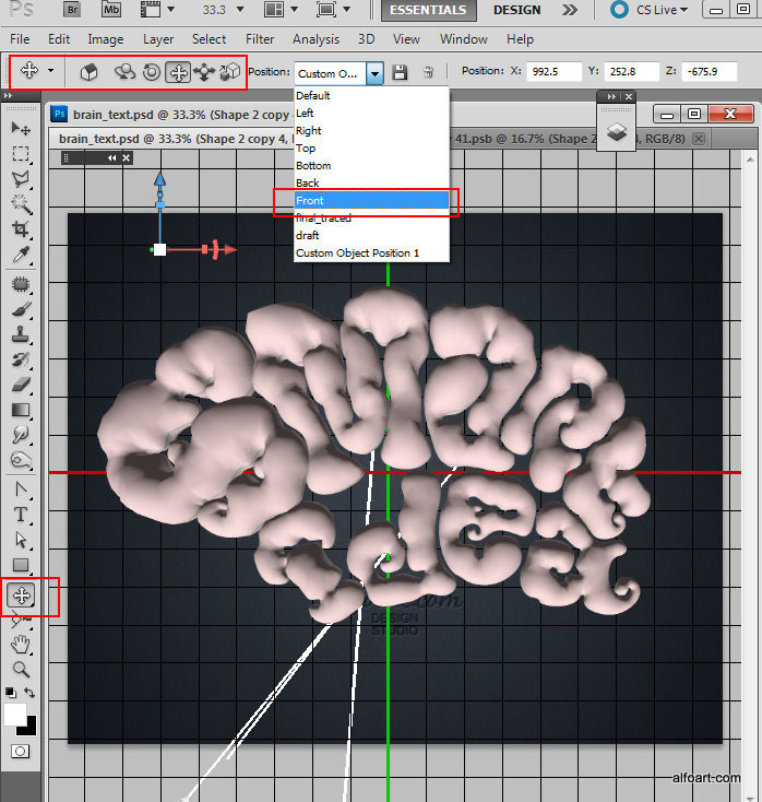 Learn how to create realistic brain text effect. This Adobe Photoshop tutorial will show how to apply gray cells, blood vessel texture and light reflections to the 3D shapes.