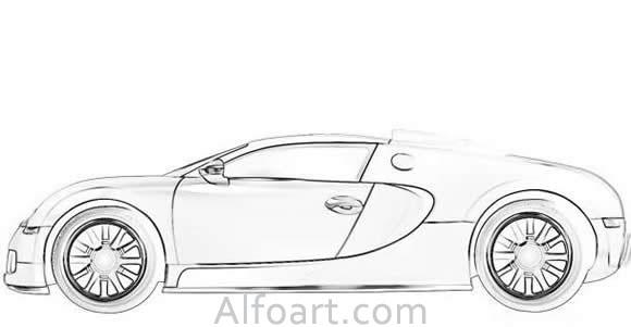 Photoshop Drawing Bugatti Veyron Illustration Tutorial