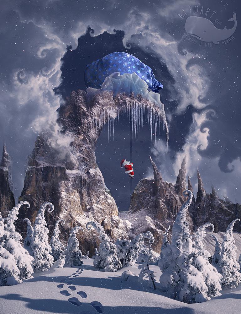 Christmas Gifts Mountain.Learn how to create magic photo ...