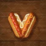 Hot dog text effect