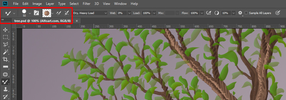 Learn how to create trees, banners, scrolls and ribbons by using Mixer Brush Tool for Family Tree Template