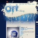 Glossy and creative art blog design