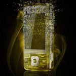 Fragmented golden phone