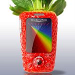 Strawberry Cell Phone