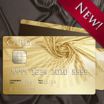 Golden style design for the credit, loyalty or membership card