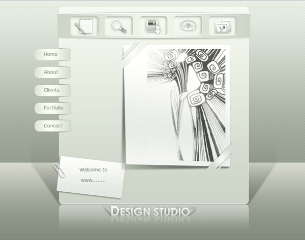 Light, clean and stylish design for website, web templates and psd files
