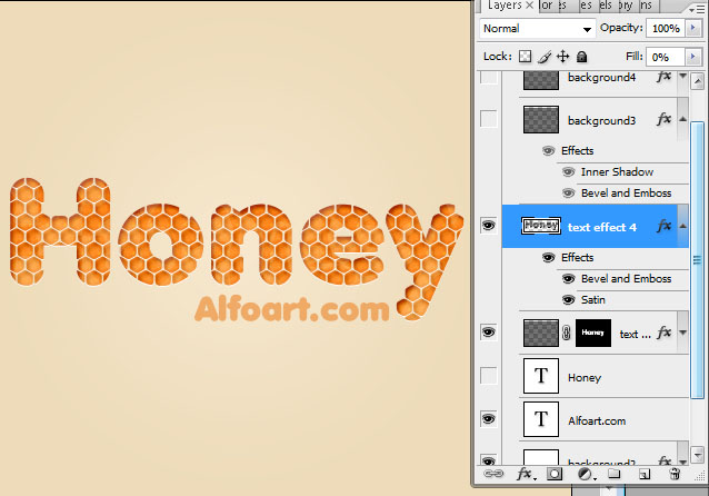 Awesome digital Honey bubbles text effect, honey texture, Honeycomb, glossy drops. in Photoshop