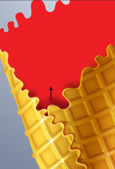 Create Ice Cream Waffle Cone illustration from the photo