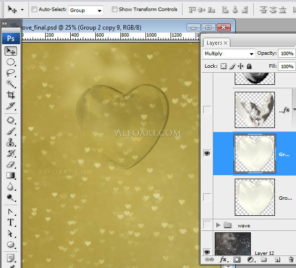 Happy Valentine's day card.. Photoshop tutorial