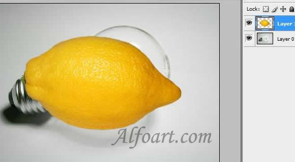 how to make a bulb glow with a lemon