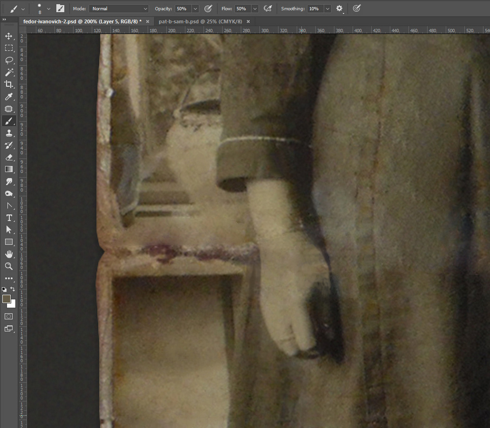 Restore old damaged photo in Photoshop