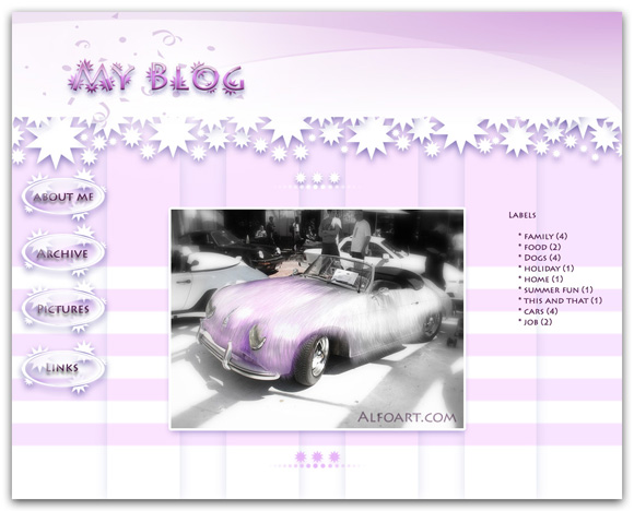 Pink Blog, Website Design