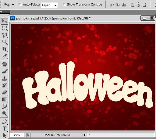 Halloween Style Font How to create letters from pumpkin image with photoshop Free pumpkin brushes