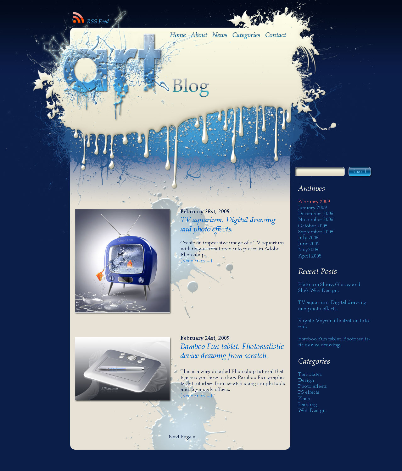 Paint Splatters Splash Silver Design How To Create A Cool And - Splash website templates