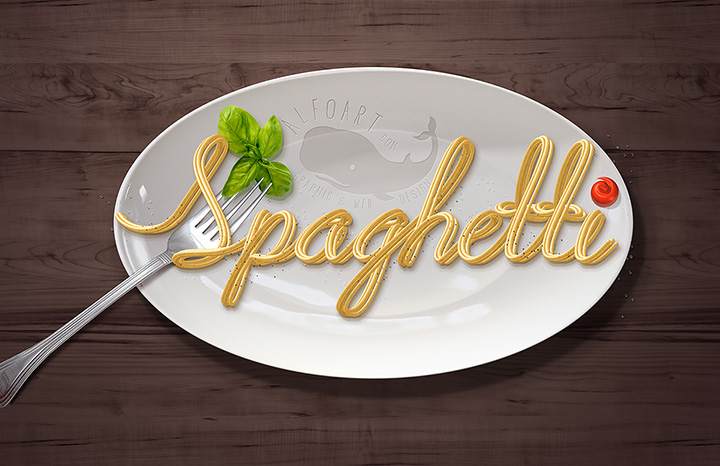 Spaghetti Text Effect. Learn how to create realistic pasta, noodles or spaghetti effect using Mixer Brush Tool. This pretty simple technique may help you to create different tubes, pipes, cords, ropes effects without using 3D software.