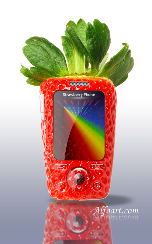 Strawberry cell phone design