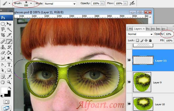 how to add sunglasses in photoshop