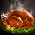 Roasted Thanksgiving turkey illustration