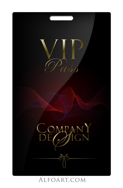 Tutorial on how to make Elegant and glossy black vip pass with – Vip Ticket Template